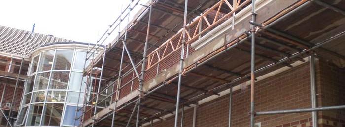Long-reach-scaffolding